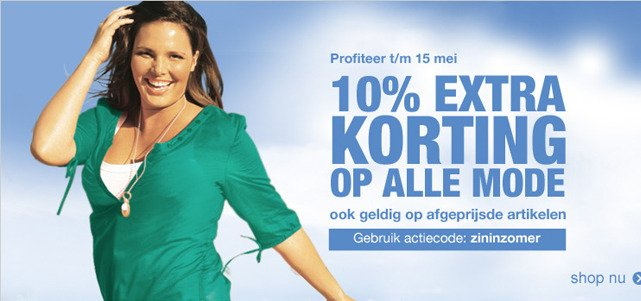 10% EXTRA KORTING OP ALLE MODE